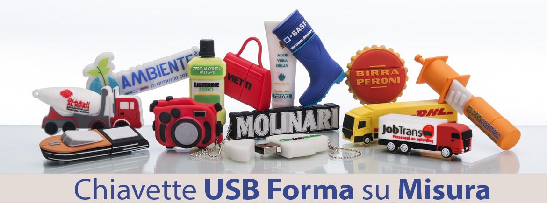 Chiavette USB Forma su Misura